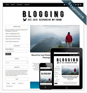 premium wordpress templates - blogging-theme