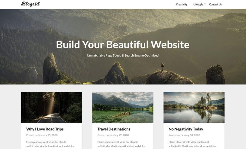blogrid portfolio theme