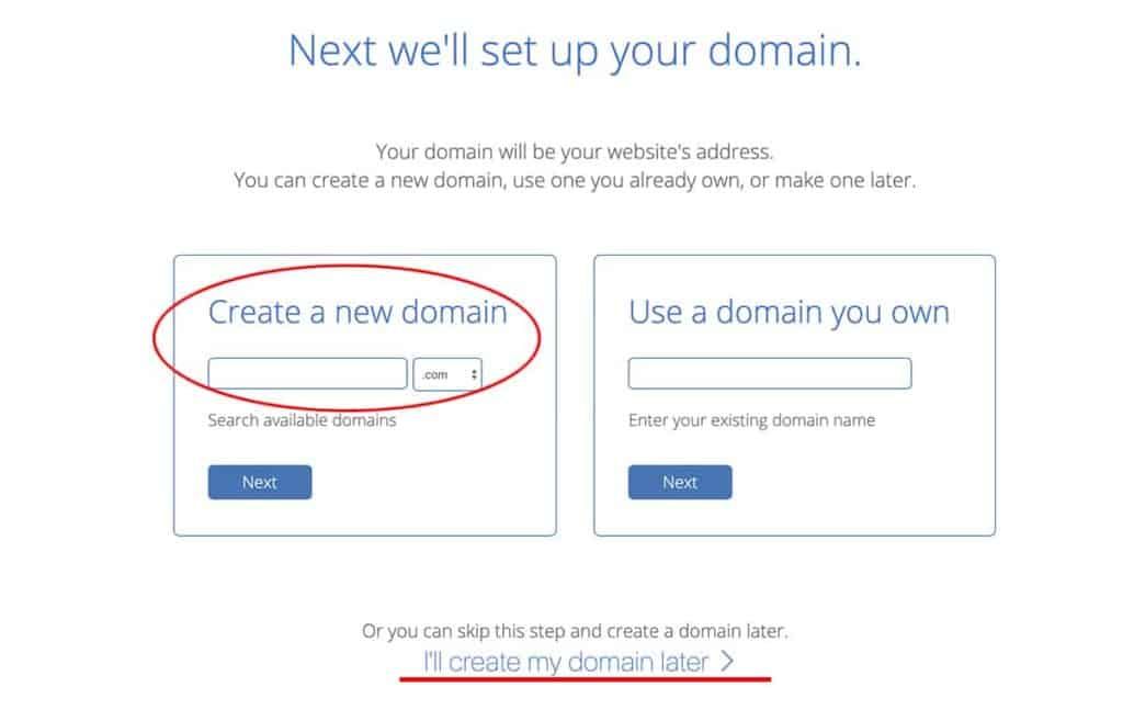 Bluehost choose blog domain name 2020