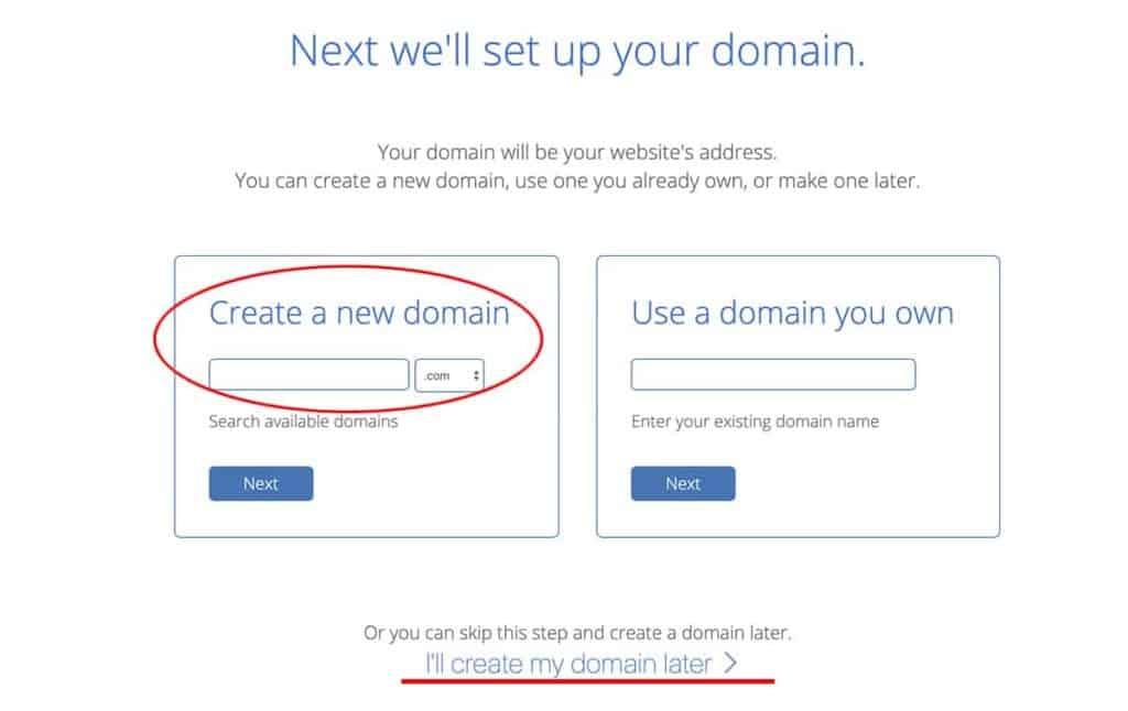Bluehost choose website domain name 2020