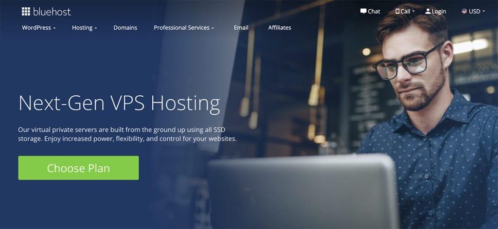 bluehost vps hosting