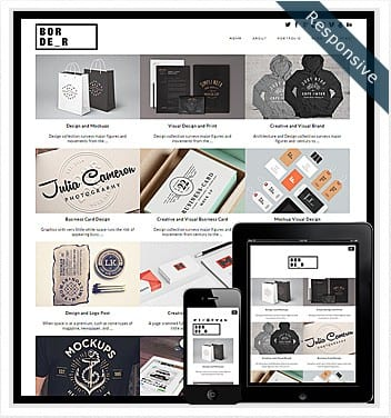 premium wordpress templates - border-grid-theme
