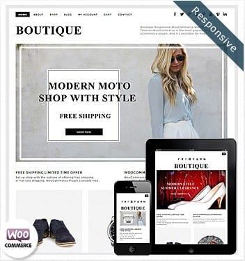 premium wordpress templates - boutique-theme-woocommerce