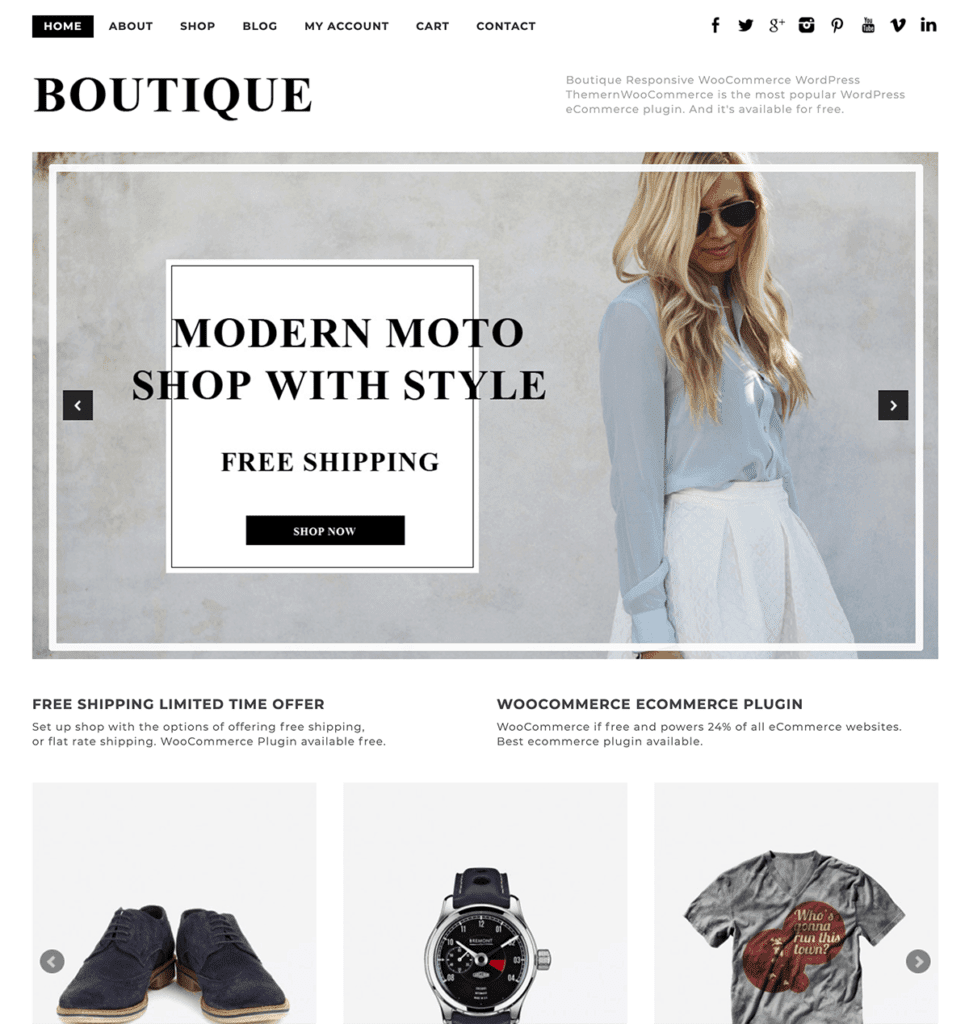 boutique WooCommerce