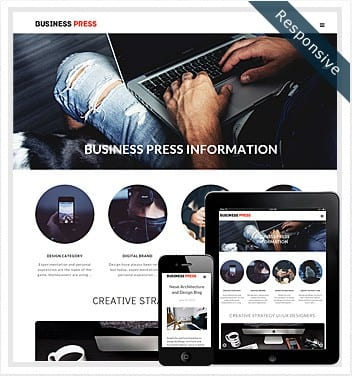 premium wordpress templates - business-press-wordpress