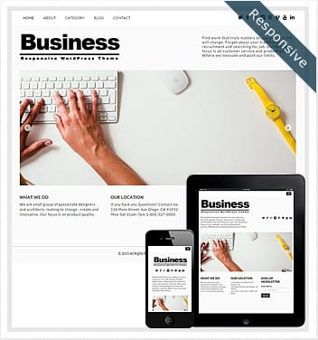 Free Business Theme WordPress – 2018