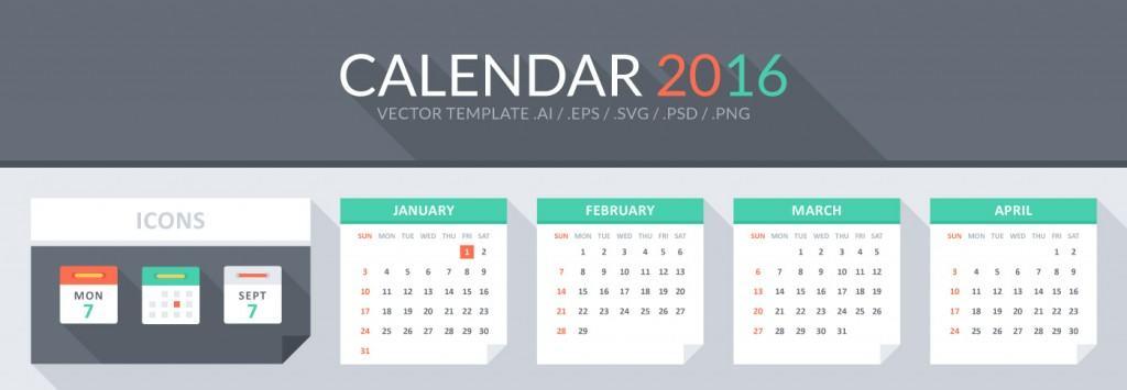Free Calendar Vector Template