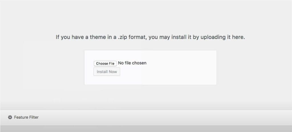 choose zip file to upload
