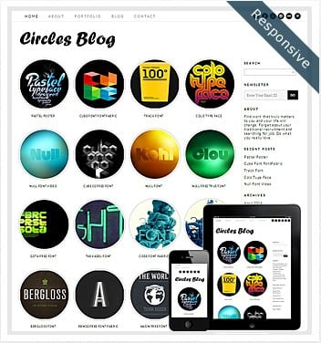 premium wordpress templates - circles-blog-theme