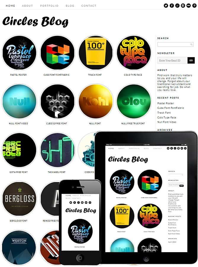 Circles Blog WordPress Theme - Best WordPress Themes for Creatives ...