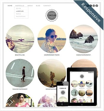 premium wordpress templates - circles-theme-wordpress