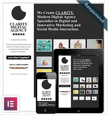 One Clarity Elementor Template Free