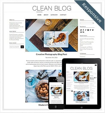 premium wordpress templates - clean-blog-theme