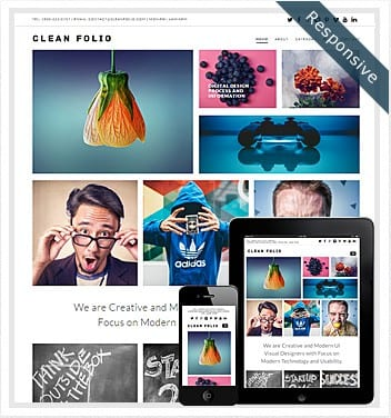 premium wordpress templates - clean-folio-theme