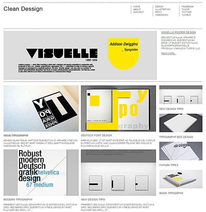 Clean WordPress Themes Clean Theme « Premium Portfolio Responsive WordPress Themes – Dessign