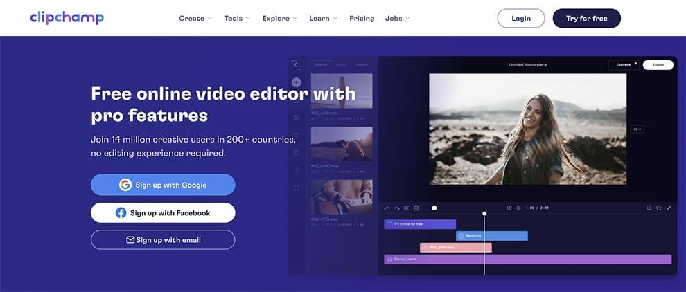 clipchamp free video editor