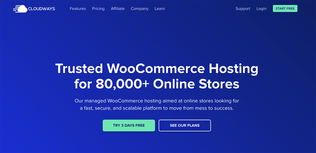 cloudways managed woocommerce hosting