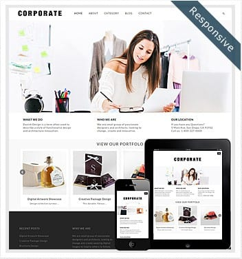 premium wordpress templates - corporate-theme-wordpress