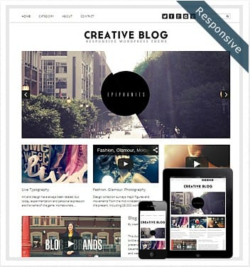 premium wordpress templates - creative-blog-theme