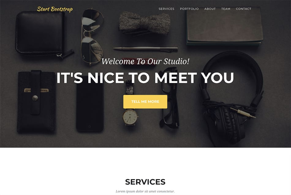 Agency free bootstrap template theme