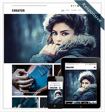 premium wordpress templates - creator-theme