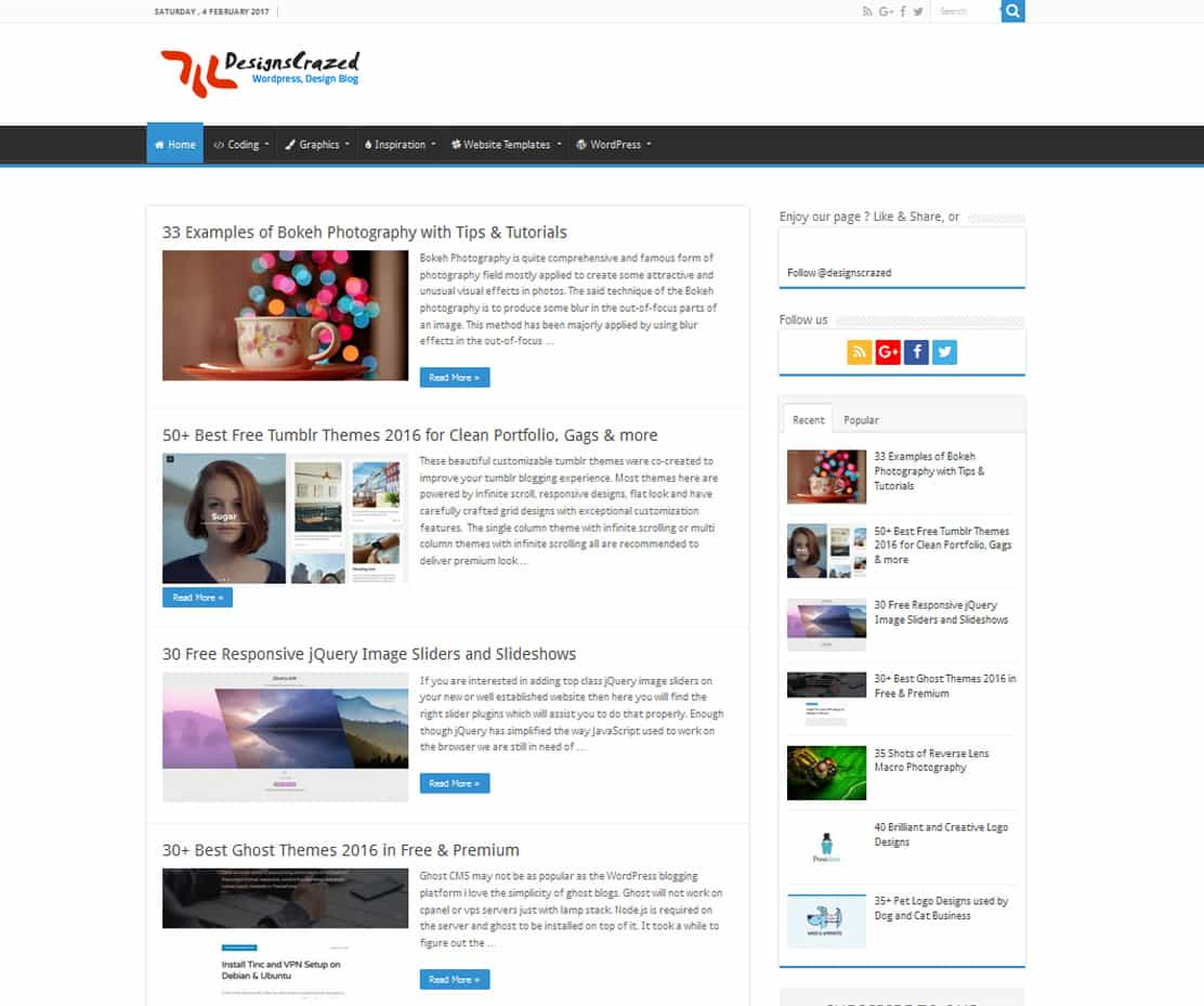 dcrazed - Dessign Themes - Premium WordPress Themes for