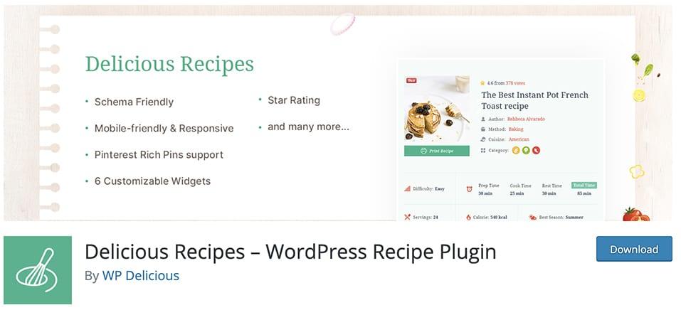 Delicious Recipes – WordPress Recipe Plugin