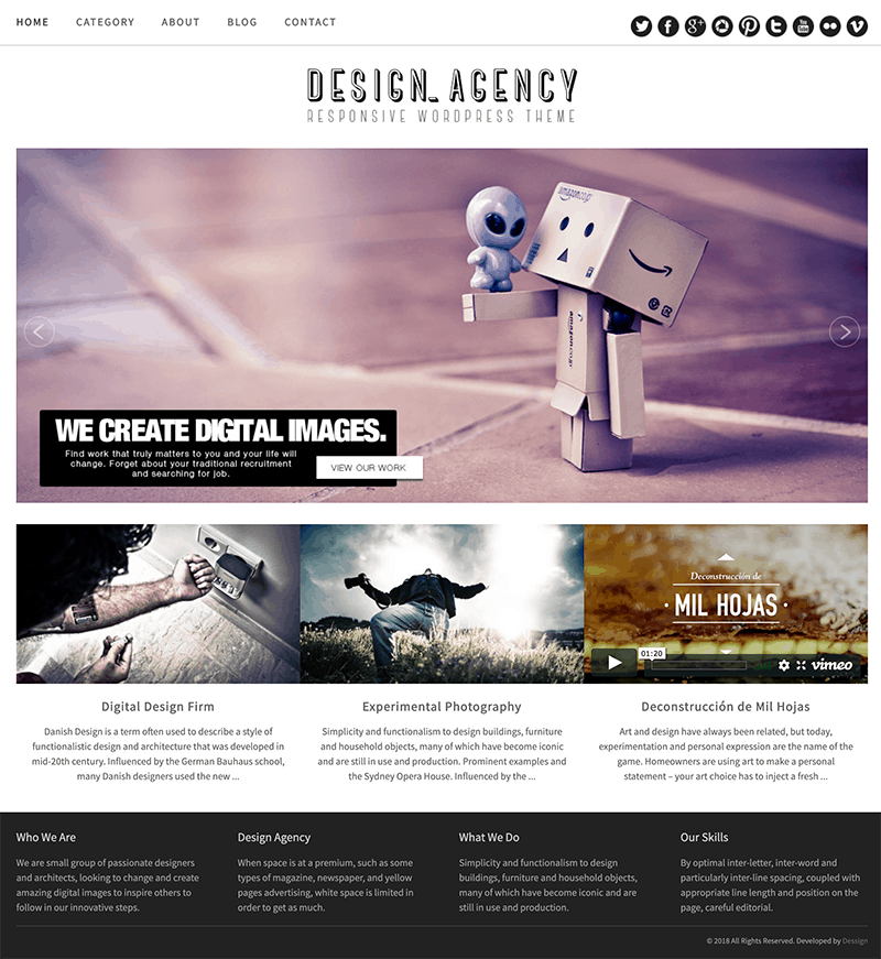 free design agency theme