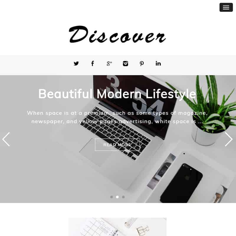 Discover - Soft Blogging WordPress Theme