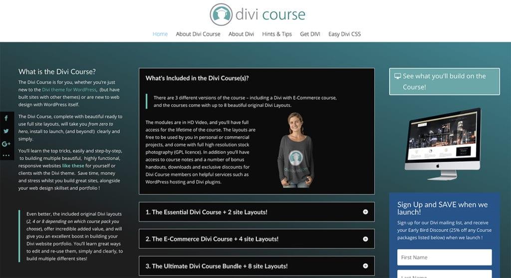 Divi Course - Learn Divi Resources