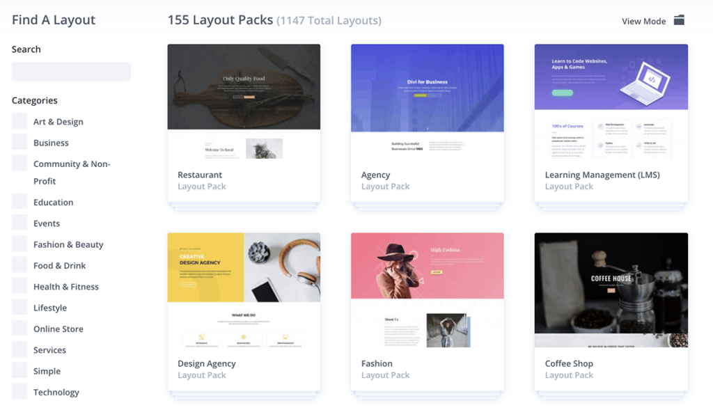 Divi Layout Pack 155+ Pre Build Templates