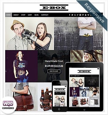premium wordpress templates - e-box-theme-woocommerce