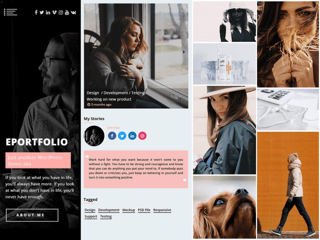 eportfolio best theme for digital artists