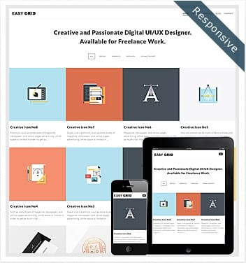 premium wordpress templates - easy-grid-theme
