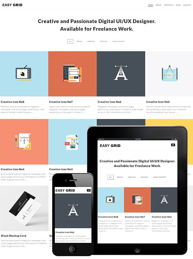 easy grid wordpress theme best wordpress themes for creatives
