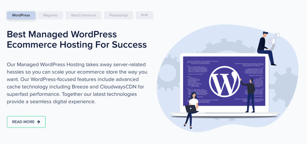 Cloudways e-commerce hosting