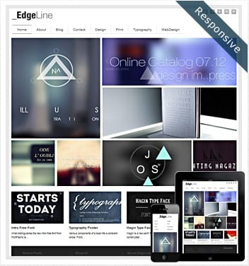 premium wordpress templates - edgeline-theme