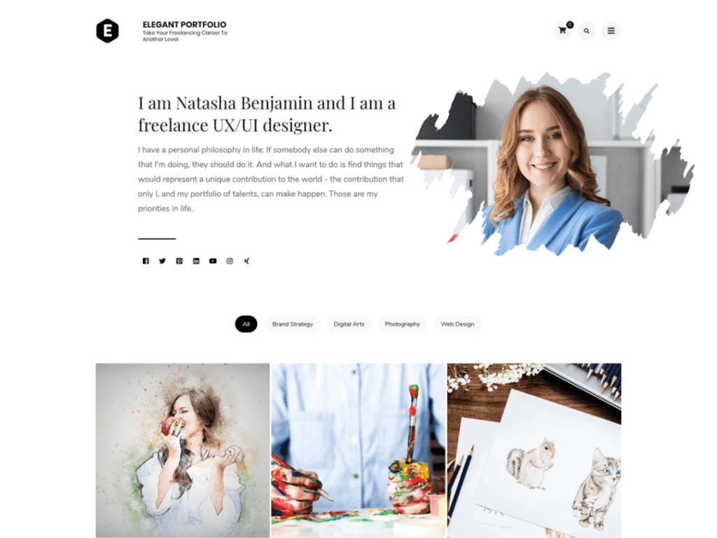 elegant portfolio free theme