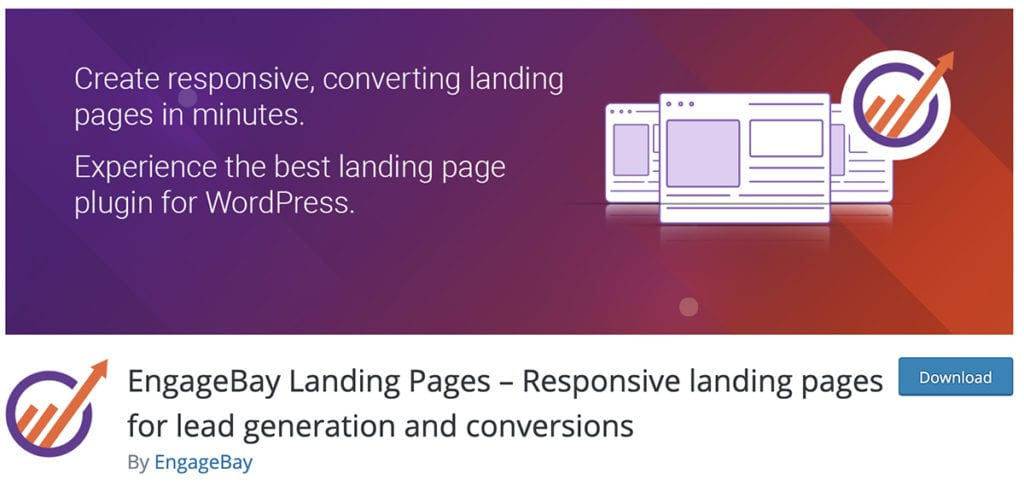 Pages de destination EngageBay - Pages de destination réactives pour la génération de prospects et les conversions