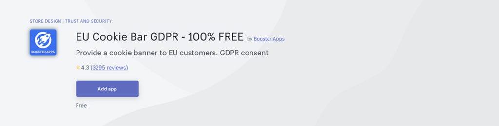 EU Cookie Bar GDPR ‑ 100% FREE