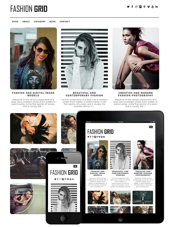 Fashion Grid WordPress Theme - Best WordPress Themes for Creatives ...
