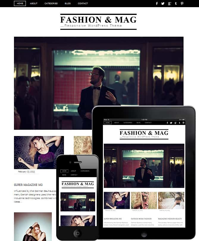 Fashion & Mag WordPress Theme - Best WordPress Themes for Creatives ...