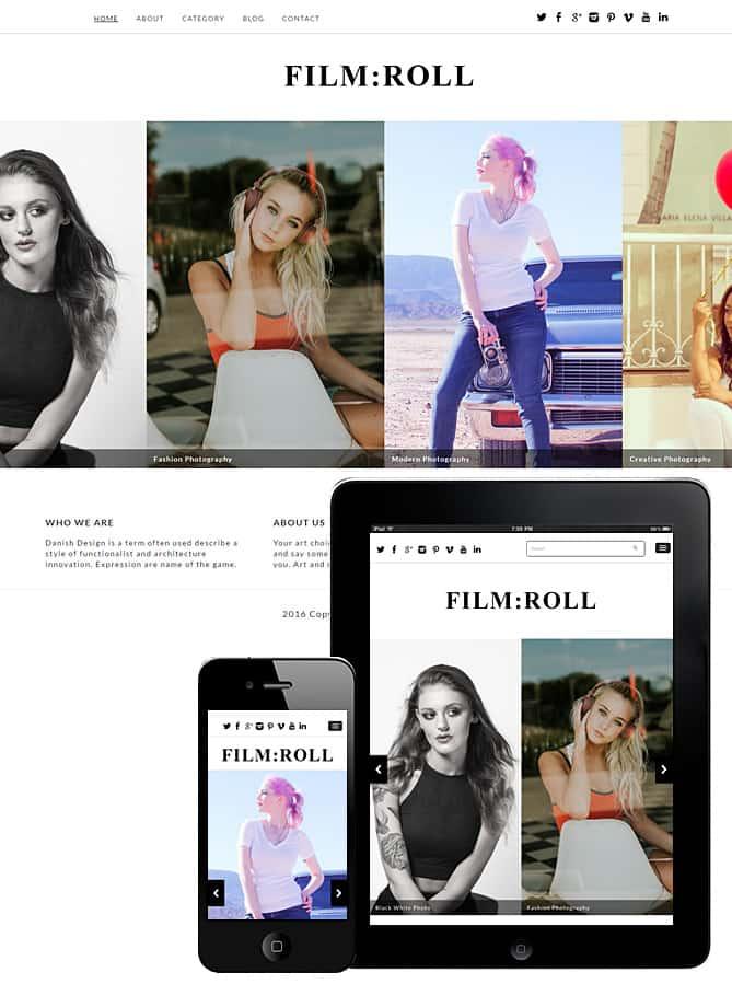 Film Roll WordPress Theme - Best WordPress Themes for Creatives ...