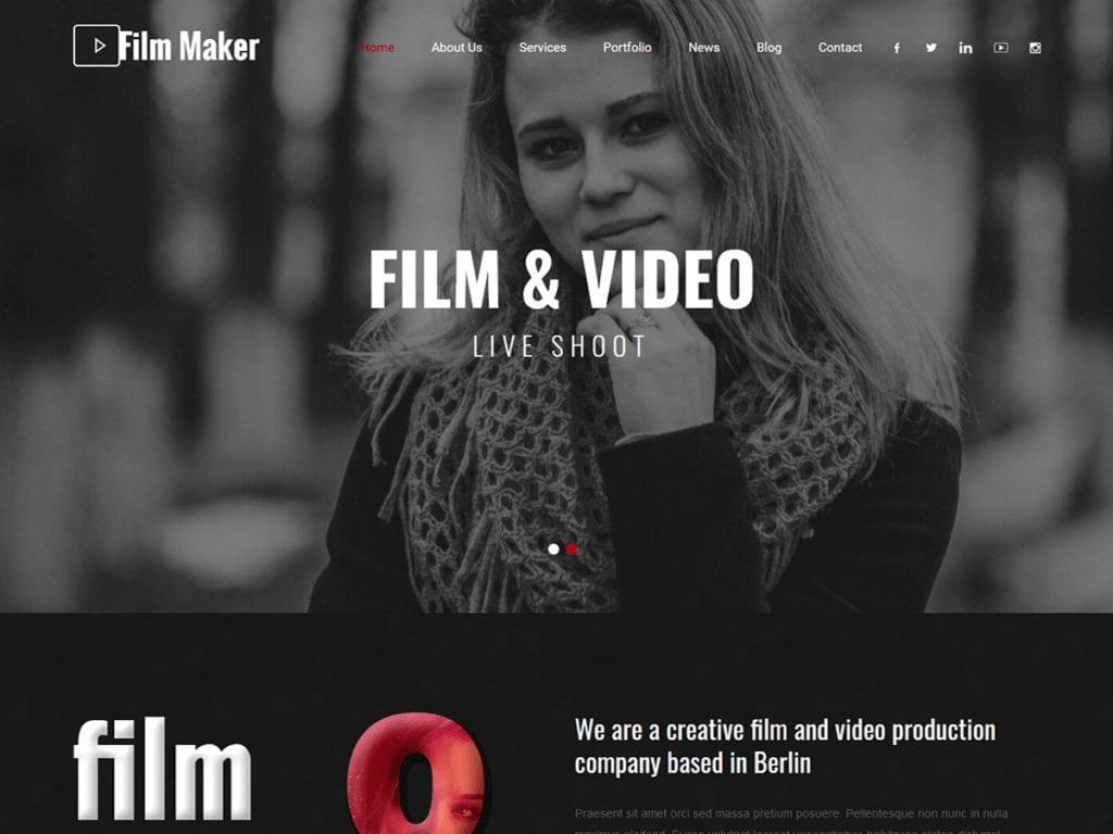 Filmmaker is a videographer
