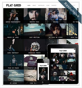 premium wordpress templates - flat-grid-theme