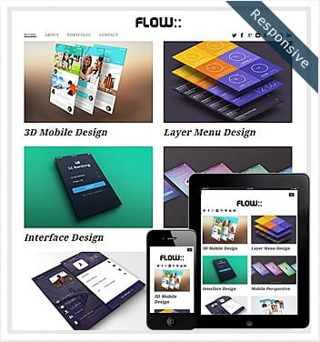 premium wordpress templates - flow-theme