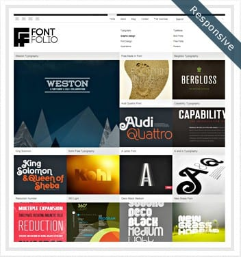 premium wordpress templates - font-folio-theme