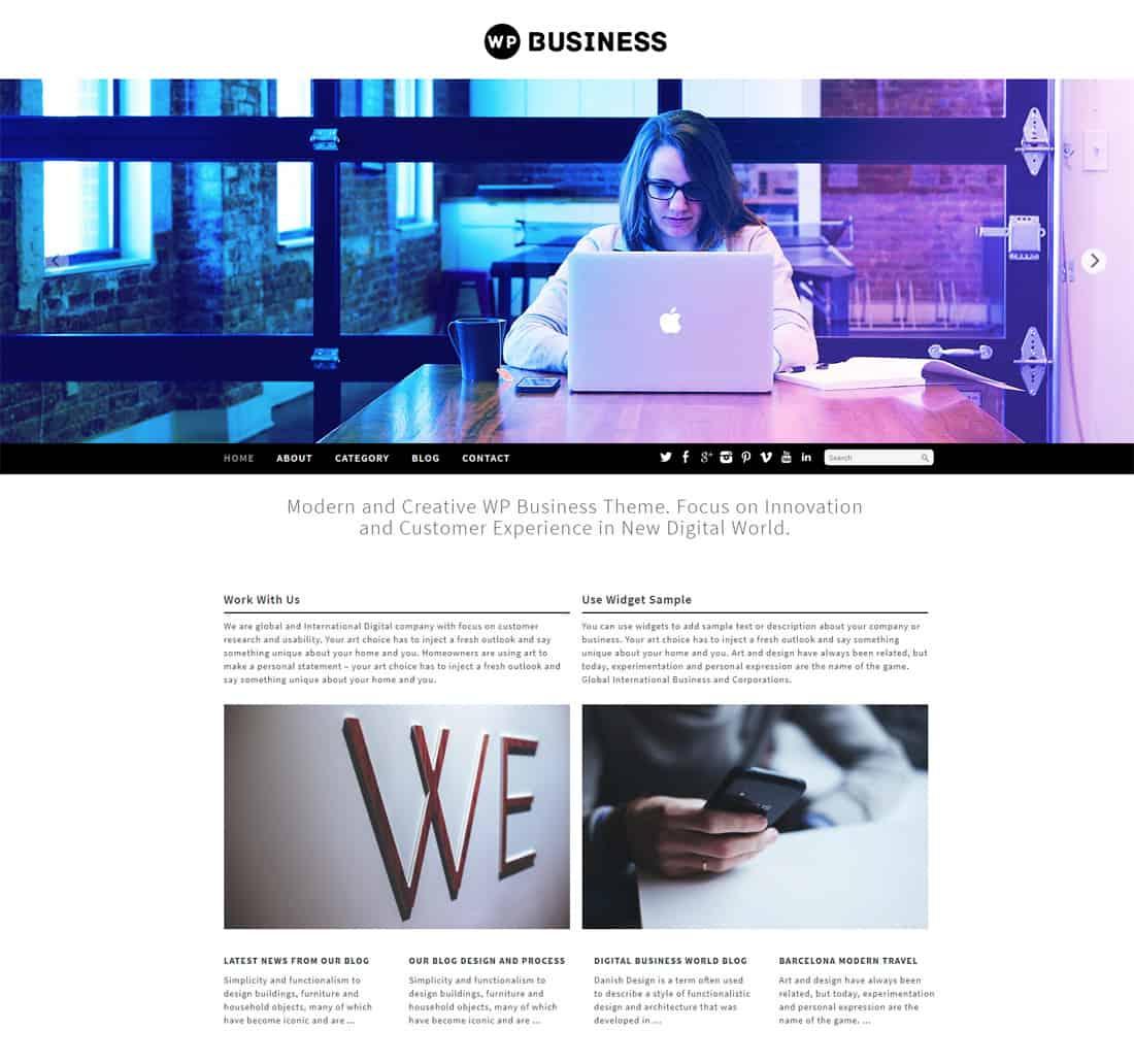 20 best free business themes wordpress 2018 dessign