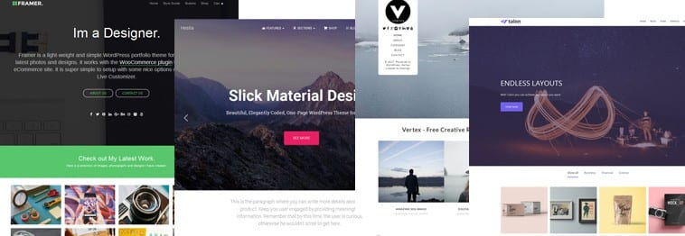 20+ Best Free Creative Portfolio WordPress Themes 2019
