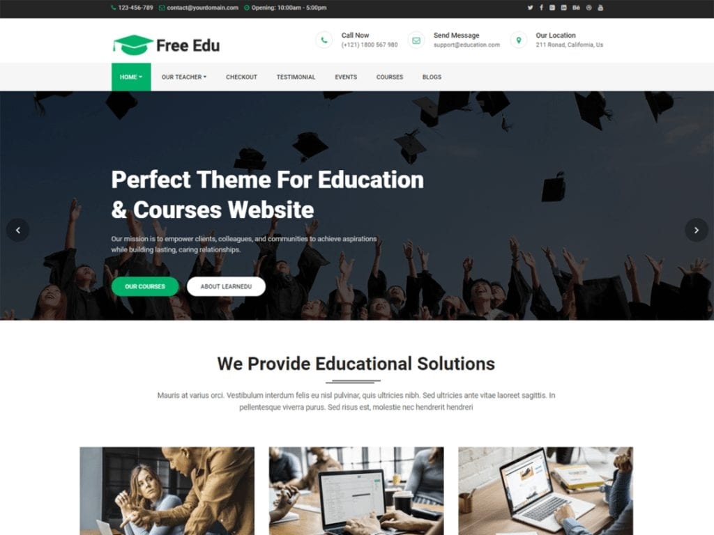 19+ Best Free Education WordPress Themes (UPDATED 2020)